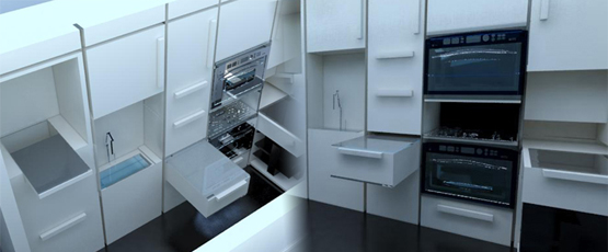 Kitchen in a Wall - Prototype